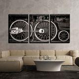 Wall26 wall26 - Train Wheel Detail in Black and White - Canvas Art Wall Decor - 16x24