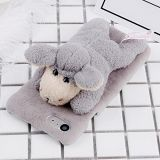 Yunhuanbucase Premium Fashion Plush Lovely Grey Sheep Doll Toy Plush Protective Back Cover Case For iPhone 8 & 7 Protective Cover