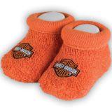 Harley-Davidson Unisex Baby Booties Boxed Orange