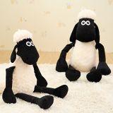 RedGlobe 55cm White Sheep Plush Toy Doll Cute Black Sheep Lamb Christmas Gift Sheep Doll Large Sheep Plush Toy