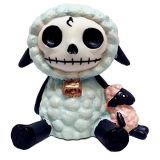 Ebros Gift Furrybones Woolee Doll Blue Sheep Cute Skeleton Monster Ornament Figurine