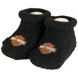Harley-Davidson Baby Boys Boxed Stretch Terry Booties Infant Socks, Black (0/3M)