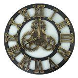 Asvert Industrial Wall Clock Handmade 3D Gear Clock Large Rustic Decorative Wall Clock European Retro Vintage Clock Wall Decor for Retro Style Living Room/Office/Bar/Restaurant (Go