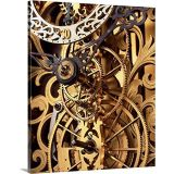 CANVAS ON DEMAND David Parker Premium Thick-Wrap Canvas Wall Art Print entitled Internal gears within a clock 16x20