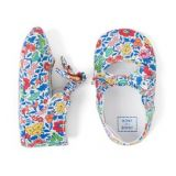 Janie and Jack Liberty Favourite Flowers Crib Shoe