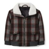 Janie and Jack Plaid Wool Aviator Jacket