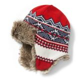 Janie and Jack Fair Isle Trapper Hat