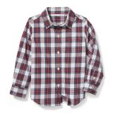 Janie and Jack Plaid Poplin Shirt