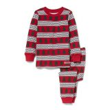 Janie and Jack Tree and Fair Isle Pajama Set