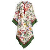 Gucci Floral-Print Linen Twill Caftan Dress