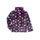 Hatley Little Girls & Girls Lovely Hearts Fuzzy Fleece Jacket