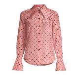 Marc Jacobs Polka Dot Button-Down Silk Blouse