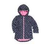 Hatley Little Girls & Girls Rainbow Polka Dot Hooded Rain Jacket