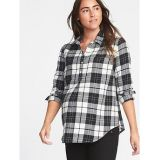 Oldnavy Maternity Plaid Twill Classic Shirt 30% Off Taken at Checkout