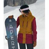 Zumiez Aperture Jibber Maroon & Tobacco Snowboard Jacket