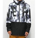 Zumiez Neff Daily Black & White 10K Softshell Snowboard Jacket