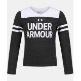 Underarmour Girls Pre-School UA Tri-Blend Wordmark Hi-Lo Long Sleeve