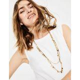 Boden Dainty Disc Longline Necklace - Gold Metallic