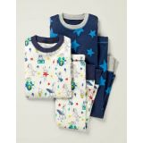 Boden Twin Pack Long Pajamas - Ivory Music Animals
