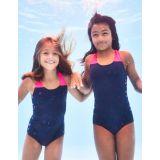 Boden Racer-Back Swimsuit - Deep Sea Blue