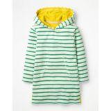 Boden Stripy Towelling Beach Dress - Jungle Green/Ivory