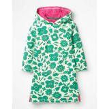 Boden Fun Towelling Beach Dress - Jungle Green Pop Floral