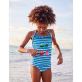Boden Colour-Change Sequin Swimsuit - Blue Burst/Ivory Cherries