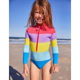 Boden Stripy Long-Sleeved Swimsuit - Rainbow Stripe
