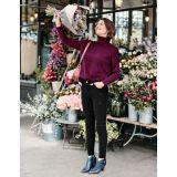 Boden Velvet Super Skinny Jeans - Black Embroidered