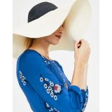 Boden Sun Hat - Ivory and Navy