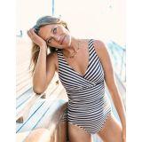 Boden Talamanca Swimsuit - Ink/Ivory Stripe