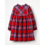 Boden Festive Woven Check Dress