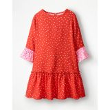 Boden Frill Sleeve Printed Dress