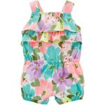 Carters Floral Tank Romper