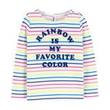 Carters Rainbow Jersey Top