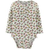 Carters Floral Henley Thermal Bodysuit