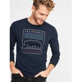 Oldnavy Soft-Washed Long-Sleeve Graphic Tee for Men