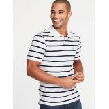 Oldnavy Striped Built-In Flex Moisture-Wicking Embroidered-Graphic Pro Polo for Men