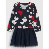 Gap Heart-Print Mix-Media Dress