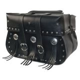 Willie & Max American Classic Throw-Over Straight Saddlebags