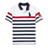 Polo Ralph Lauren Striped Cotton Mesh Polo Shirt