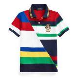 Polo Ralph Lauren Striped Cotton Mesh Polo