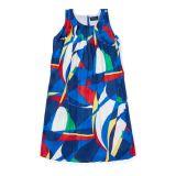 Polo Ralph Lauren Sailboat Pleated Satin Dress