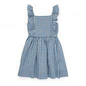 Polo Ralph Lauren Ruffled Gingham Cotton Dress