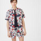 Clubmonaco Slim Tropic Short-Sleeve Shirt