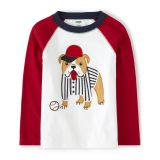 Boys Dog Raglan Top - Opening Day