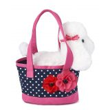 Girls Puppy Bag - Playful Poppies