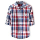 Boys Plaid Button Up Shirt - Opening Day