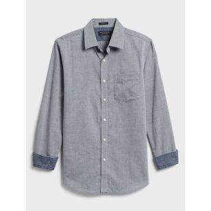 Slim-Fit Soft-Wash Yarn-Dye Shirt