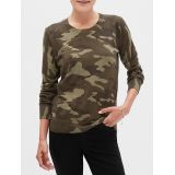 Camo Print Crew Neck Sweater